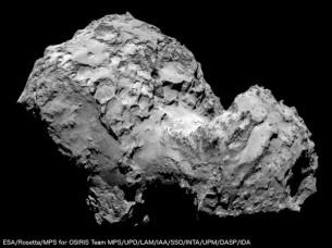 photographie de la comete 67P
